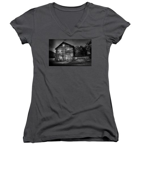 Women's V-Neck T-Shirt (Junior Cut) featuring the photograph The Old Place by Marvin Spates