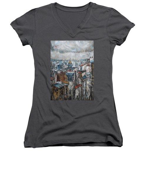 The Old Quarter II Women's V-Neck T-Shirt