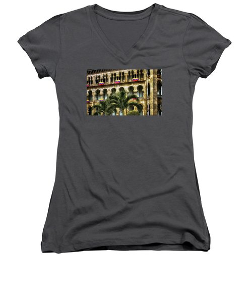 The Old Railway Station Women's V-Neck (Athletic Fit)