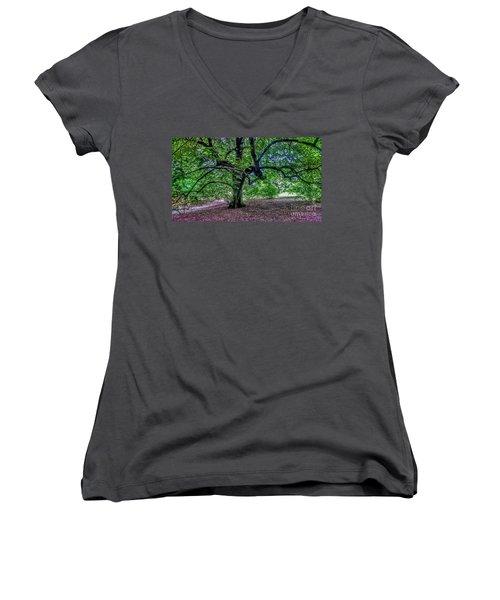 The Old Tree At Frelinghuysen Arboretum Women's V-Neck