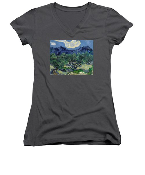 The Olive Trees Women's V-Neck (Athletic Fit)