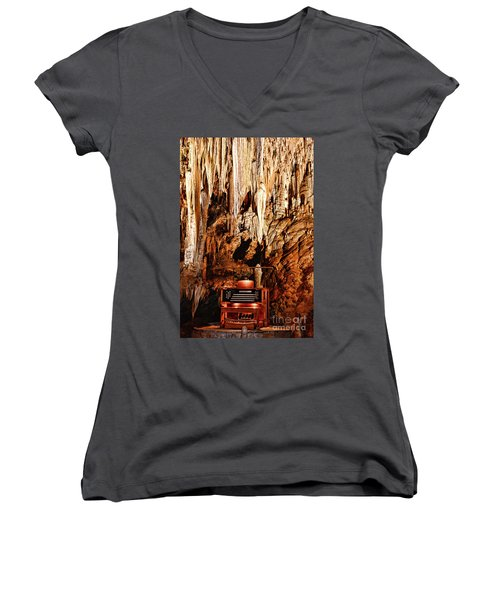 The Organ In The Cavern Women's V-Neck T-Shirt (Junior Cut) by Paul Ward