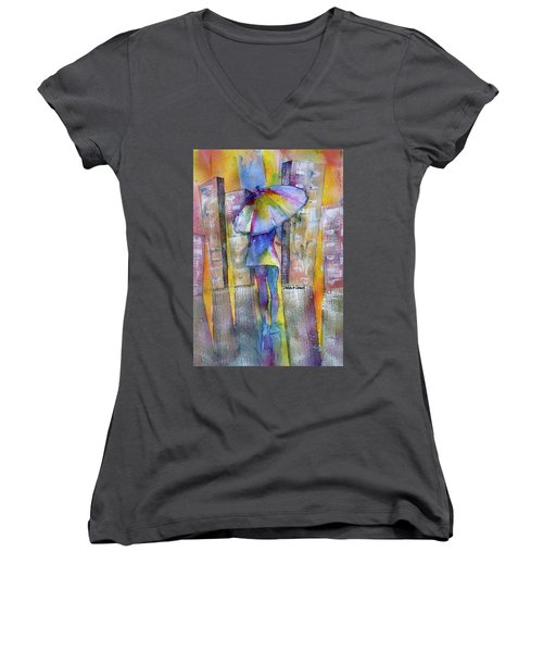 The Other Girl In The City Women's V-Neck