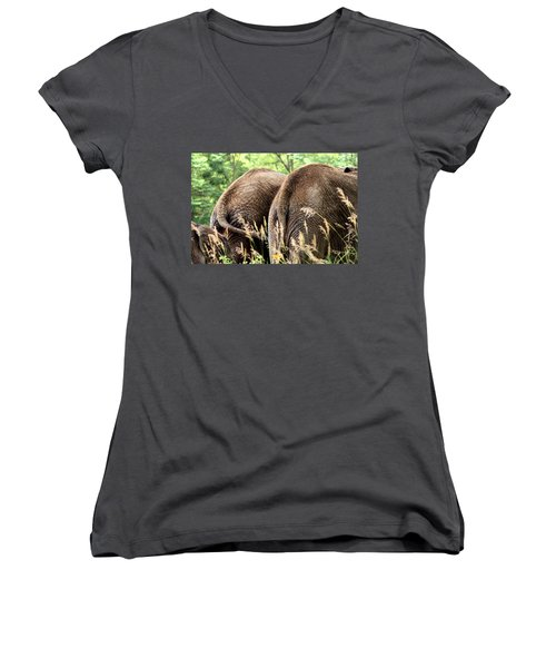 The Other Side Women's V-Neck T-Shirt (Junior Cut) by Angela Rath