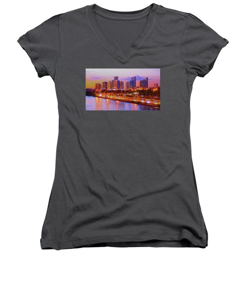 The Outer Drive Women's V-Neck (Athletic Fit)