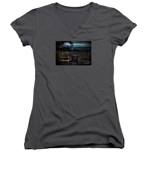 Pain That Last Forever Women's V-Neck T-Shirt (Junior Cut) by Pamela Blizzard