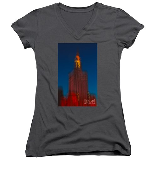 The Palace Of Culture And Science Women's V-Neck