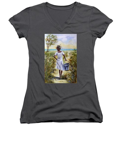 The Path To The Sea Women's V-Neck (Athletic Fit)