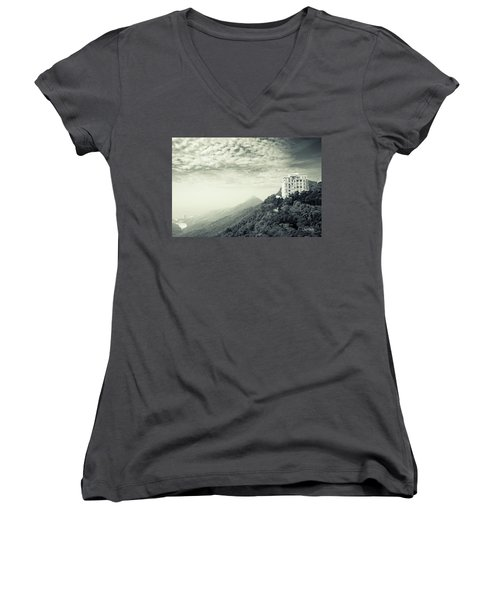 The Peak Women's V-Neck T-Shirt (Junior Cut) by Joseph Westrupp