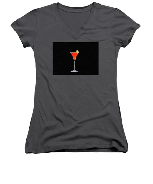 Women's V-Neck T-Shirt (Junior Cut) featuring the photograph The Perfect Drink by David Lee Thompson
