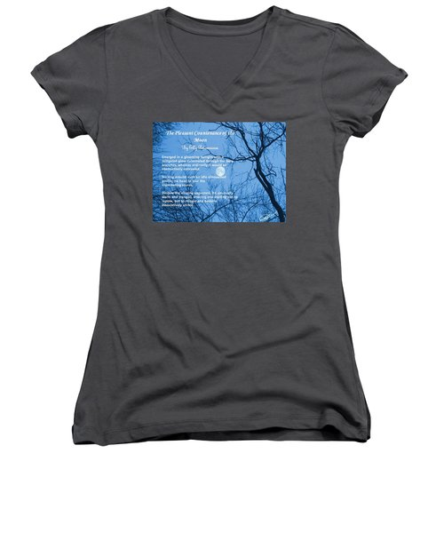 The Pleasant Countenance Of The Moon Women's V-Neck
