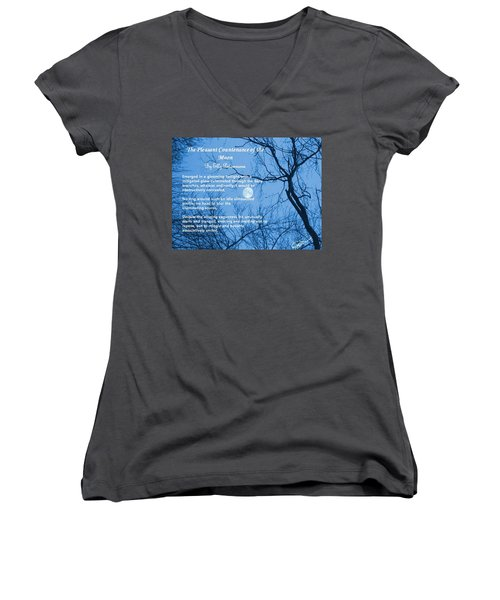 The Pleasant Countenance Of The Moon Women's V-Neck (Athletic Fit)
