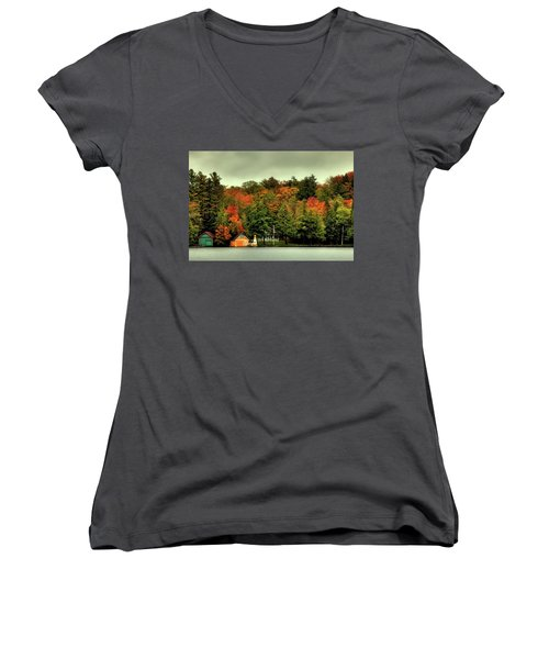 The Pond In Old Forge Women's V-Neck