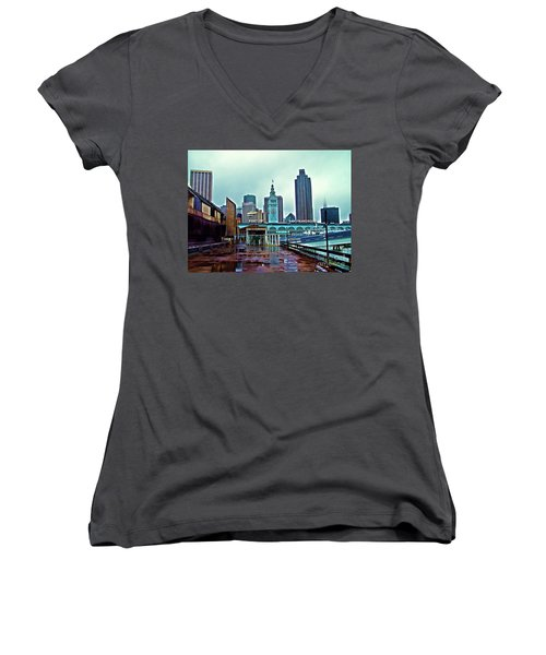 The Port Of San Francisco Women's V-Neck (Athletic Fit)
