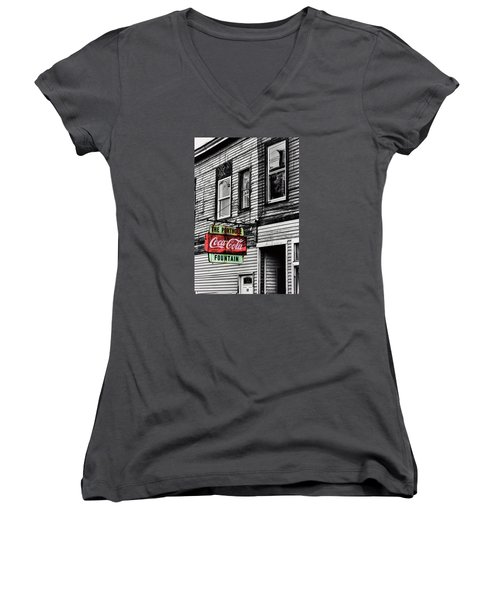 The Porthole Portland Maine Women's V-Neck T-Shirt