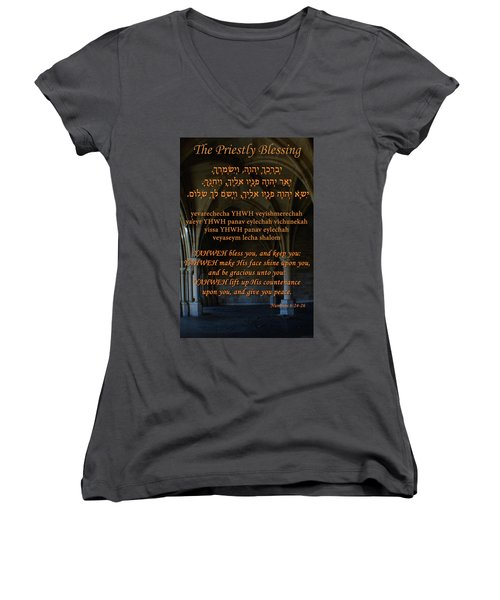 The Priestly Aaronic Blessing Women's V-Neck (Athletic Fit)