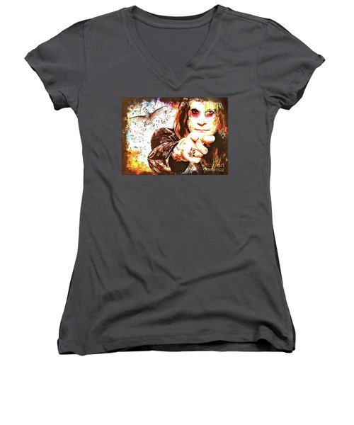 The Prince Of Darkness Women's V-Neck (Athletic Fit)
