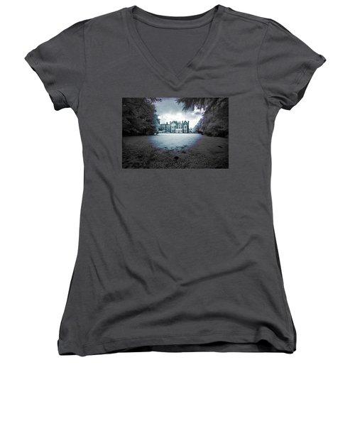 The Priory  Women's V-Neck T-Shirt (Junior Cut) by Keith Elliott