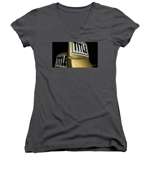 Title Boxing Gloves Women's V-Neck T-Shirt