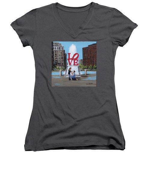 The Proposal Women's V-Neck T-Shirt (Junior Cut) by Jack Skinner