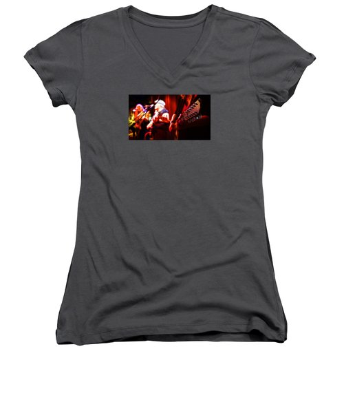 Women's V-Neck T-Shirt (Junior Cut) featuring the photograph The Radiant Musicians by Cameron Wood