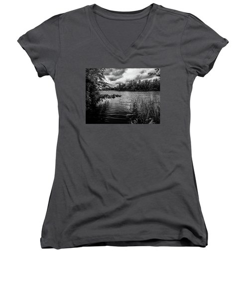 The Rancocas River Landscape Women's V-Neck