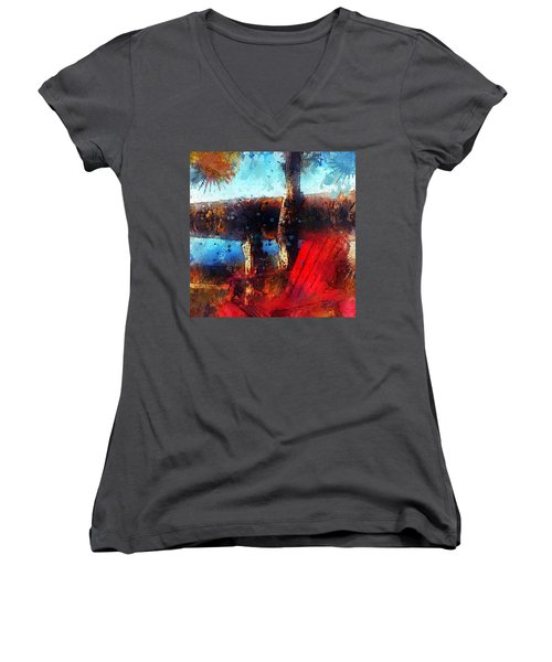 The Red Chair Women's V-Neck T-Shirt (Junior Cut)
