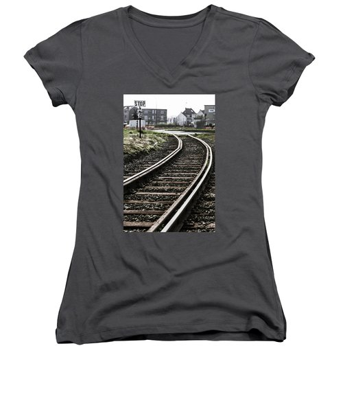 The Right Track? Women's V-Neck
