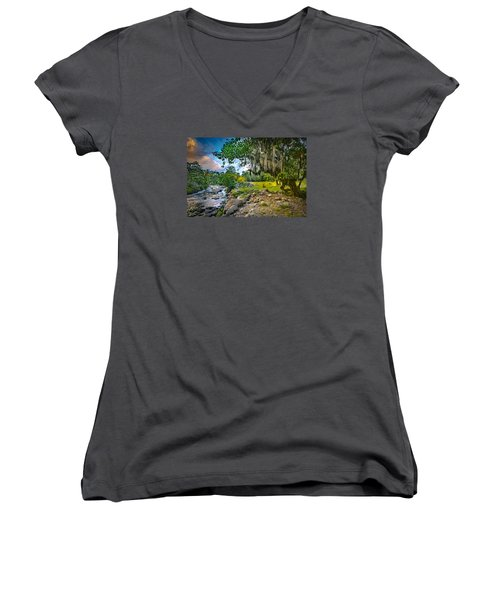 The River At Cocora Women's V-Neck