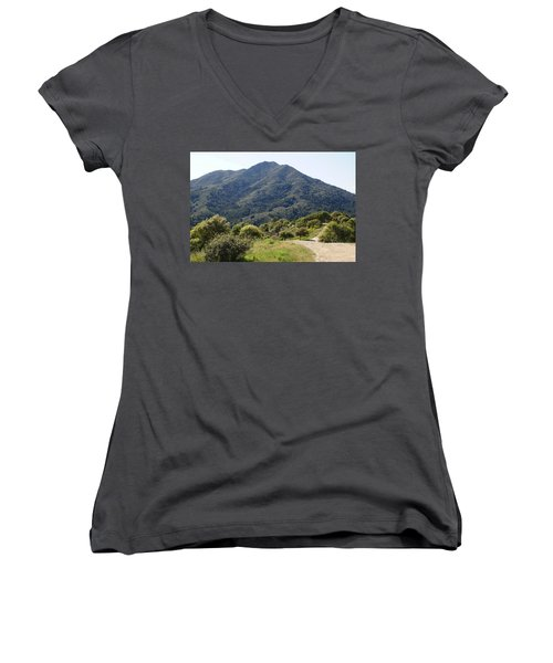 The Road To Tamalpais Women's V-Neck