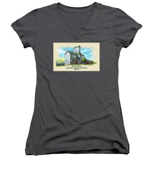 The Ross Elevator Women's V-Neck T-Shirt (Junior Cut) by Scott Ross