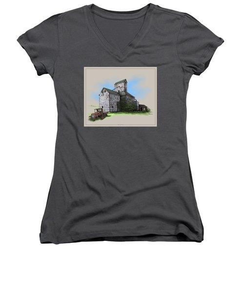 The Ross Elevator Version 5 Women's V-Neck T-Shirt (Junior Cut) by Scott Ross