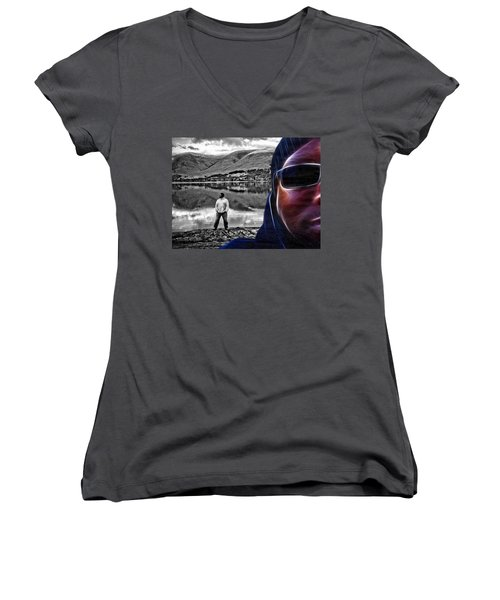 The Rough And The Rugged Women's V-Neck T-Shirt (Junior Cut) by ISAW Gallery