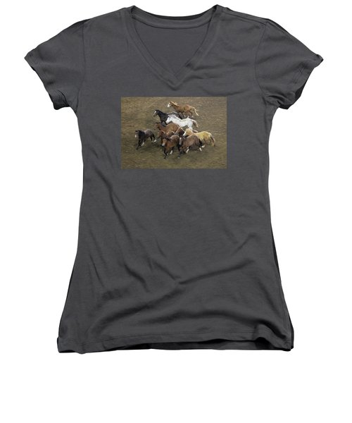 The Roundup Women's V-Neck (Athletic Fit)