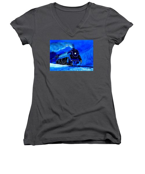 The Royal Blue Express Women's V-Neck (Athletic Fit)