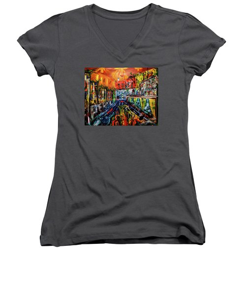 The Sangria Jug Women's V-Neck T-Shirt