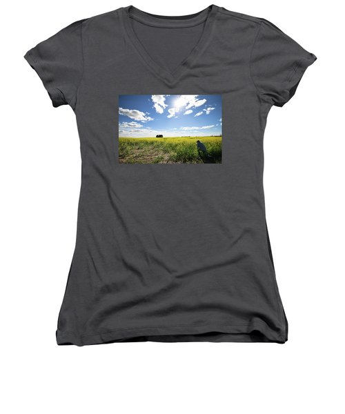 The Saskatchewan Prairies Women's V-Neck (Athletic Fit)