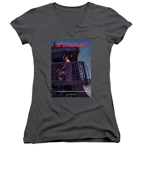 The Scarlet Lady Book Cover Women's V-Neck