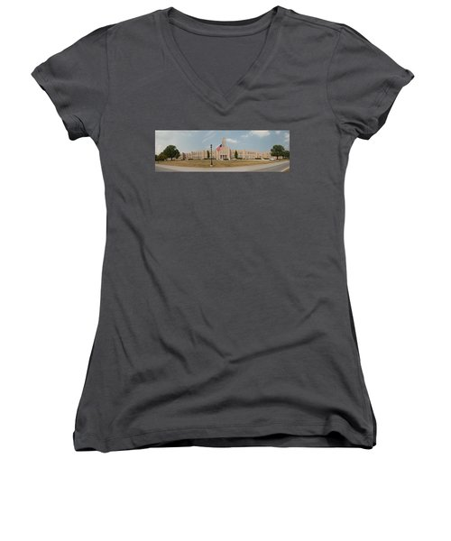 The School On The Hill Panorama Women's V-Neck