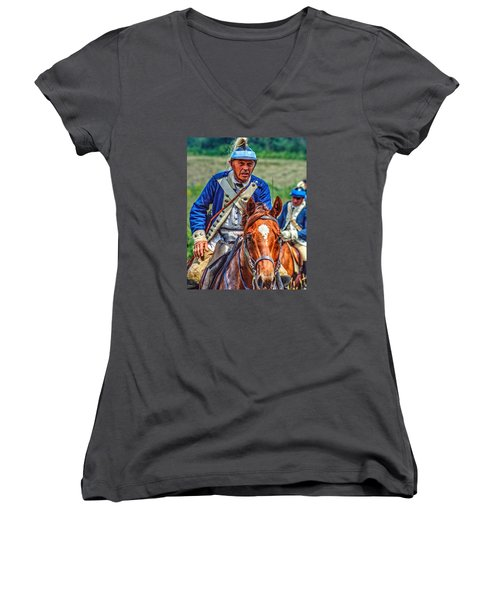 The Second Regiment Light Dragoons 004 Women's V-Neck T-Shirt