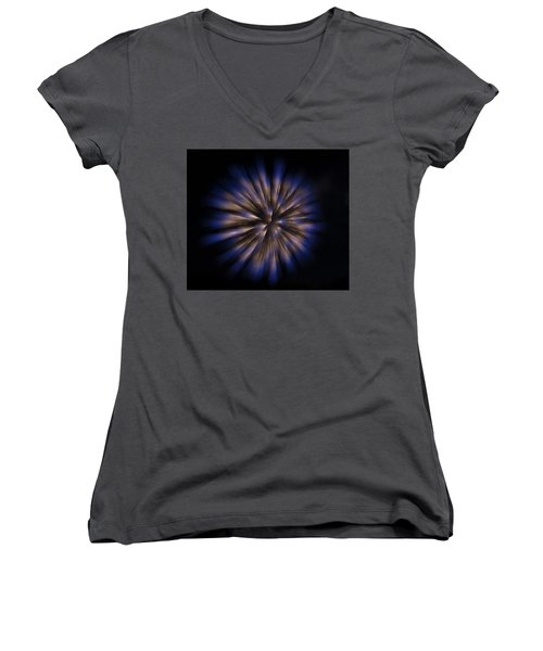 The Seed Of A New Idea Women's V-Neck T-Shirt (Junior Cut) by Alex Lapidus