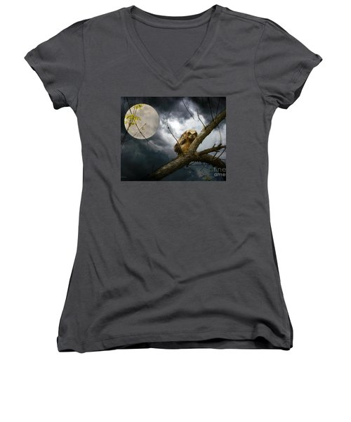 The Seer Of Souls Women's V-Neck T-Shirt (Junior Cut) by Heather King
