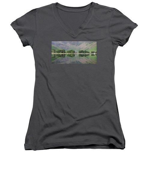 The Sentinals Women's V-Neck T-Shirt (Junior Cut) by Stephen Taylor