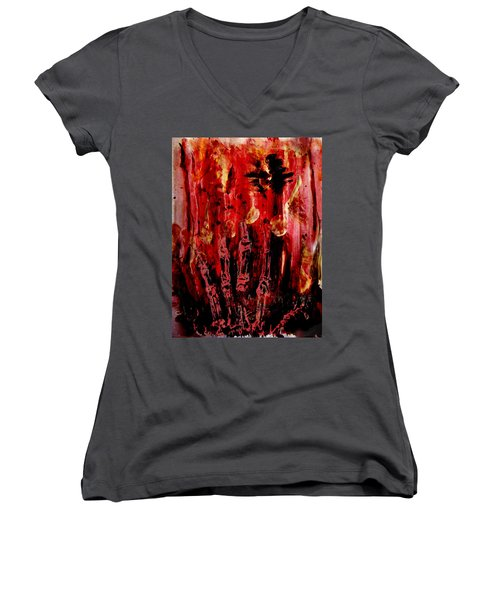 The Seven Deadly Sins - Wrath Women's V-Neck (Athletic Fit)