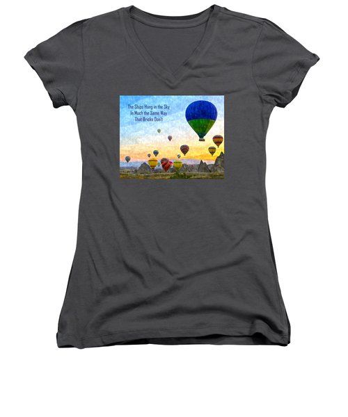 The Ships Hung In The Sky Women's V-Neck (Athletic Fit)