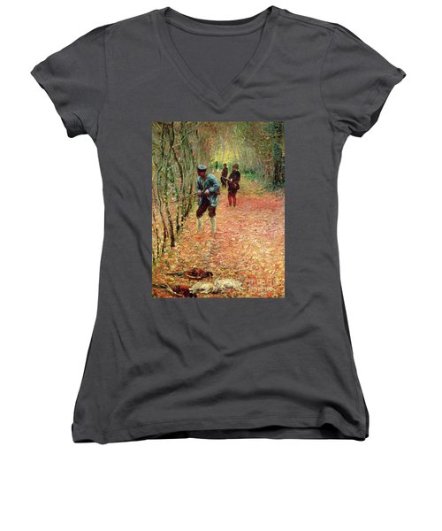 The Shoot Women's V-Neck (Athletic Fit)