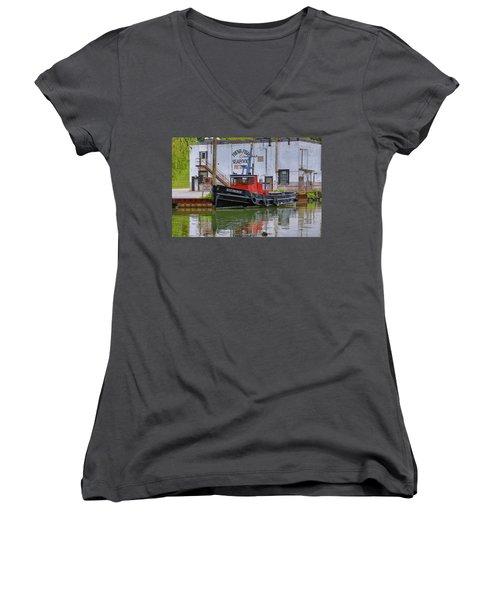 The Silt-prince Women's V-Neck T-Shirt (Junior Cut) by Gary Hall