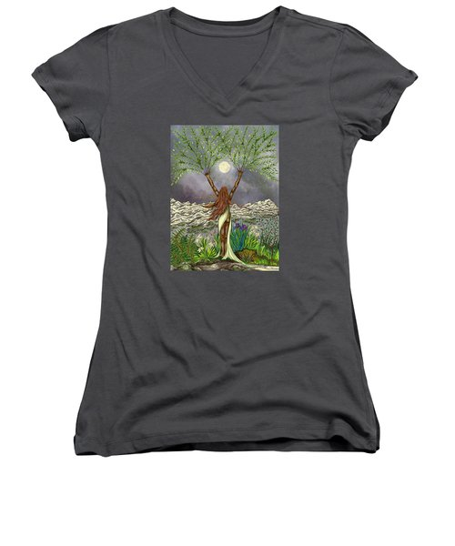 The Singing Girl Women's V-Neck