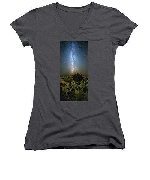 Women's V-Neck T-Shirt featuring the photograph The Sky Above  by Aaron J Groen