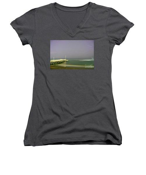 Women's V-Neck T-Shirt (Junior Cut) featuring the photograph The Soul Of Interstellar by Erhan OZBIYIK